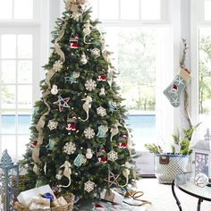 Gotta visualize! Tree ideas for our beach house Seas 'n Greetings Christmas Tree - 7.5' | Pier 1 Imports