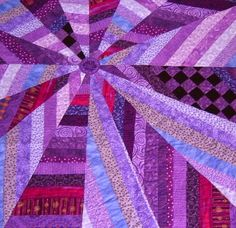 Quilt - Contemporary - Purple, Lavender, Stripes, Checkered - Sized for a Throw BlanketFrom malibuquilts