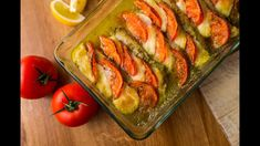 Fish Recipes, Mozzarella, Pesto, Zucchini, Seafood, Food And Drink, Stuffed Peppers, Vegetables, Foods