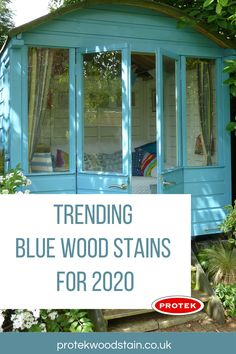 Every blue wood stain and paint on trend you will need for outdoor and exterior wood projects. Could be tables, benches, fences, furniture and decks plus loads more in dark and light blue colours. Green Wood Stain, Wood Stain Colors, Blue Stain, Outdoor Projects, Wood Projects, Exterior Wood Paint, Light In The Dark, Light Blue, Concrete Posts