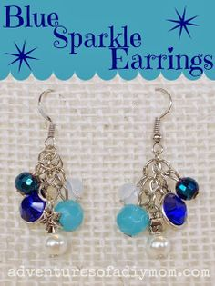How to Make Blue Sparkle Earrings