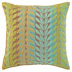 @Company C Laurel Branch Pillow in Lake (Patterned Pattern, decorative pillows) | Room Furnishing Accessories, Accent Pillows from Company C two throw pillows for sofa #dreamincolor