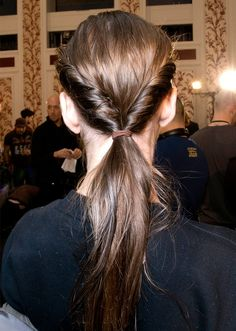 twisted low ponytail | back to school hairstyles 2016