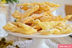Klasyczne faworki z pudrem - Swiatciast.pl Snack Recipes, Snacks, Pumpkin Cheesecake, Onion Rings, Macaroni And Cheese, Chips, Ethnic Recipes, Food, Kitchen