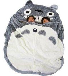 Totoro Sleeping bag - gotta get one for my kid!