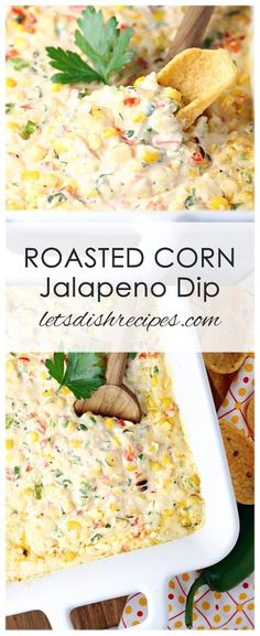Dip Recipes 31103053665115607 - Roasted Corn and Jalapeno Dip Recipe: Grilled corn and fresh jalapenos are combined with lots of cheese, spices, red peppers and green onions in the warm, savory dip that's always a crowd favorite! Jalapeno Dip, Roasted Jalapeno, Roasted Corn, Stuffed Jalapeno Peppers, Roasted Peppers, Grilled Peppers, Fresh Jalapeno Recipes, Jalapeno Cheese Dips, Recipes With Jalapenos