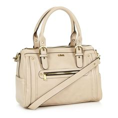 Beige studded and buckled grab bag by Ollie & Nic, $33.05 http://picvpic.com/women-bags-handbags/beige-studded-and-buckled-grab-bag