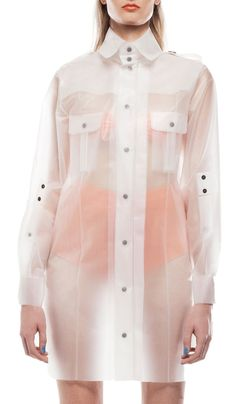 Up next in the competition for coolest raincoat ever.... Terra NewYork | DIA BEACON - Military Shirt  Frosty White