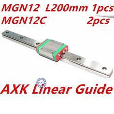 29.02$  Watch now - http://alio7e.shopchina.info/1/go.php?t=32679066511 - 1pc 12mm width 200mm MGN12 linear guide rail +  2pc MGN MGN12C Blocks carriage CNC  #buychinaproducts
