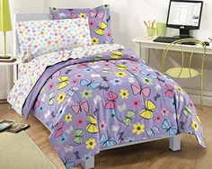 Dream Factory Sweet Butterfly Ultra Soft Microfiber Girls Comforter Set, Purple, Twin Dream Factory http://www.amazon.com/dp/B009M43QBK/ref=cm_sw_r_pi_dp_OcUNub1FMRPZN