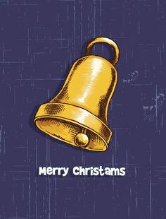 Christmas vector illustration with bells Vector Graphics, Vector Art, Christmas Holiday, Xmas, Vector Background, Vectors, Design Art, Celebration, December