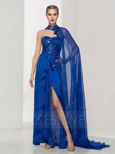 買う ファッションスパンコールノースリーブスプリットフロントasymmetriy裾ラインのイブニングドレス オンラインでは、 Dresswe.Comは高品質のファッションを提供しています,価格: USD$119.99