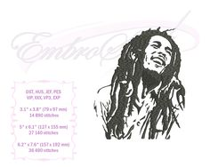 Embroidery Services, Embroidery Files, Embroidery Designs, Famous Musicians, Iconic Photos, Kind Words, Bob Marley, Reggae, Towels
