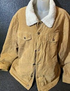 Tony Hawk Men's Large Tan Corduroy Sherpa Lined Truckers Jacket Coat Sz Condition is Pre-owned. Tony Hawk, Sherpa Lined, Corduroy Jacket, Give It To Me, Coat, Sexy, Jackets, Clothes, Beautiful