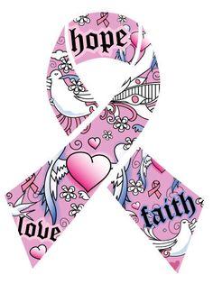 Cute pink ribbon design.