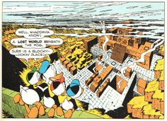 Carl Barks' first view of Plain Awful - Donald Duck: Lost in the Andes