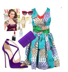 Ankara Inspired Outfit by crownoty on Polyvore featuring Dsquared2, Gucci, Kate Spade, Emi Jewellery, MANGO and Marc Jacobs