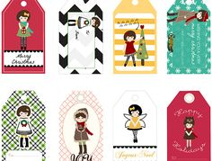 Mason Jar Crafts - Free Printables – 8 Holiday Angel Gift Tags for Crafts or Gifts | #crafts #masonjars via Put it in a Jar (putitinajar.com)