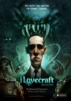 iLovecraft collection poster. illustrated by David G. Forés www.iLovecraftcollection.com