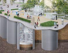 giken automatic underground bike parking system in japan