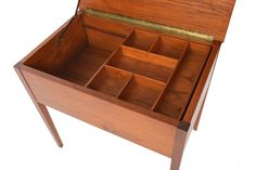 Adorable Danish Modern Mid Century Sewing Box