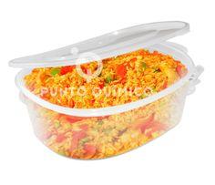 Taper plastico hermético comida caliente y fría. Tapa de seguridad hermética. Especial para comida preparada, comida para llevar o encurtidos.