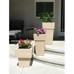 KutStone Saratoga Planters in Sandstone Finish  Set of 3 * Details can be found by clicking on the image.