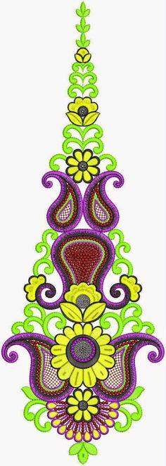 Indiese styl van vrye hand borduurwerk appliekwerk ontwerp