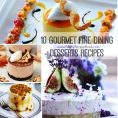 10 Gourmet Fine Dining Desserts Recipes - Fill My Recipe Book - Food: Veggie tables Easy Crustless Quiche Recipe, Quiche Recipes, Tart Recipes, My Recipes, Pudding Recipes, Baking Recipes, Vegan Recipes, Pinwheel Recipes, Jelly Recipes