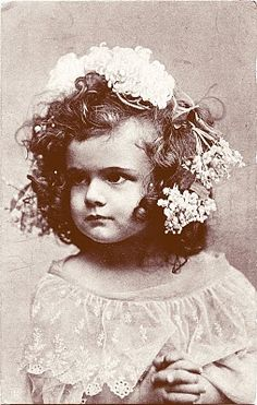 Old Photo Postcard  Pouty little Girl