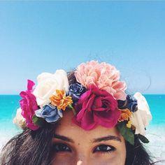 Imagen de flowers, girl, and summer