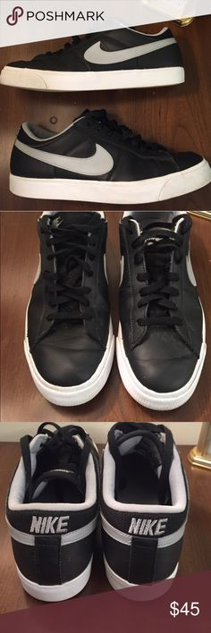 Men's Nike Match Supreme Sneaker Excellent condition. Men's Nike black and grey leather sneaker. No rips, stains or tears. Nike Shoes Sneakers