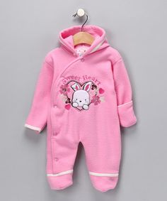 Pink Hooded Polar Fleece Bunting $9.99  http://www.zulily.com/invite/dnet219