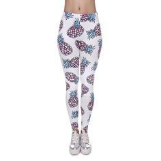 ad2922b0dc675 Fashion Soft Leggings Women 3D Print Pineapple Slim Jeggings Sexy Leggins  New Tayt Fitness Legging Calzas Mujer Soft Legins Girl
