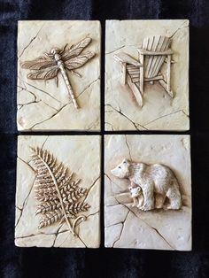 Muskoka, sculpted, drawing, cottage, loon, bear, Fern, Muskoka Chair
