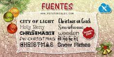 Fuentes Diciembre 2014 (Navidad) | PS Tutoriales