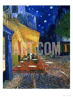 The Café Terrace on the Place du Forum, Arles, at Night, c.1888 Giclee Print by Vincent van Gogh at Art.com