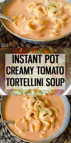 Creamy Tomato Tortellini Soup made quickly for dinner in the Instant Pot! Creamy Tomato Tortellini Soup made quickly for dinner in the Instant Pot! Creamy Tortellini Soup, Tortellini Crockpot, Tortellini Ideas, Easy Tortellini Recipes, Sausage Tortellini Soup, Quick And Easy Soup, Instant Pot Dinner Recipes, Instant Pot Soup Recipe, Best Recipes For Dinner