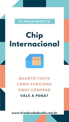 Chip internacional com internet ilimitada fora do Brasil. Saiba como funciona, q. International chip with unlimited internet outside Brazil. Learn how it works, how much it costs, where to buy it, a Travel Guides, Travel Tips, Places To Travel, Travel Destinations, Going On A Trip, Travel Checklist, Travel Organization, Eurotrip, Travel And Tourism
