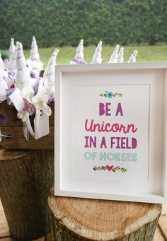 Unicorn print from a Pastel Unicorn Birthday Party on Kara's Party Ideas | KarasPartyIdeas.com (6)