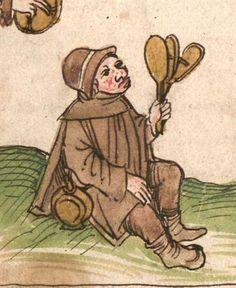 """Kalendarium, medizinische und astronomisch/astrologische Texte Johannes Birk (?): 'Stiftung des gotzhaus Kempten' (""""Karlschronik"""") Baumzucht Cgm 9470 Schwaben (Kempten?), 1499/um 1500 Folio 65r"""