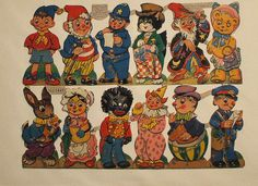 Vintage Noddy and friends Christmas cracker fronts by the vintage cottage, via Flickr