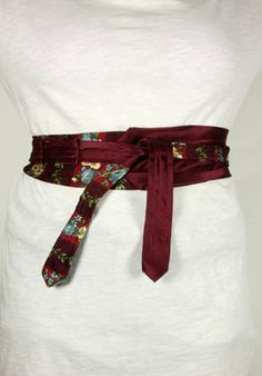 men's ties into belt  cute idea for use of old ties