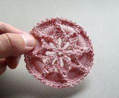 Crochet Medallion Pattern -- Star Flower Medallion Ornament -- PDF
