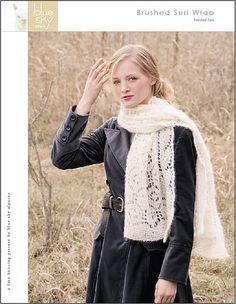 Ravelry: Brushed Suri Wrap pattern by Carolyn Vance