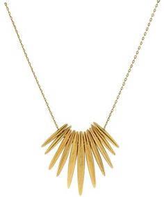 Michael Kors Tribal Matchstick Spike Pendant Necklace MKJ4505. Get the lowest price on Michael Kors Tribal Matchstick Spike Pendant Necklace MKJ4505 and other fabulous designer clothing and accessories! Shop Tradesy now