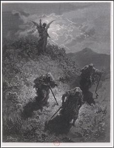 """Gustave Doré (1832-1883), Les Trois Sorcières, Illustrations pour """"Macbeth"""" de William Shakespeare - 1860"""