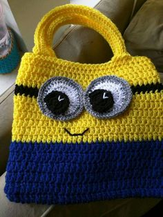 Crochet Minion purse...design idea