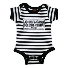 Johnny Cash Folsom Prison One Piece Johnny Cash Folsom Prison One Piece Chet Unruh Kid zone A My Baby Rocks best seller! This cool Johnny […] Clothing Boy punk Funny Baby Clothes, Funny Babies, Babies Clothes, Babies Stuff, Children Clothes, Kid Stuff, Trendy Baby Boy Clothes, E Commerce, Toddler Outfits