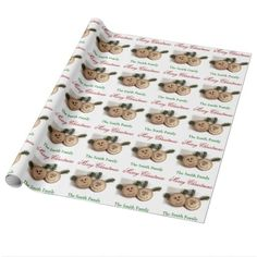 Personalize Name Christmas Wood Rustic Country Wrapping Paper
